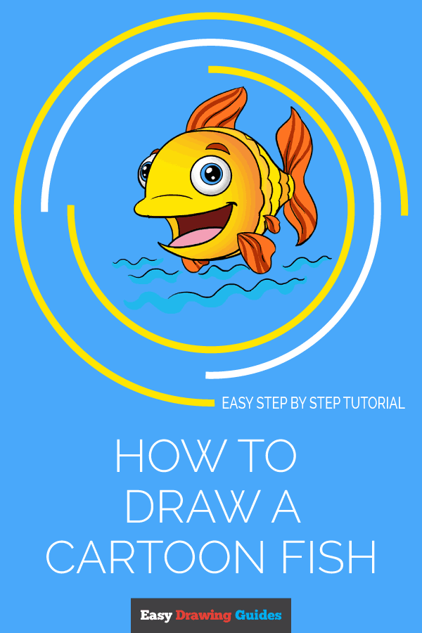 How to Draw Cartoon Fish | Share to Pinterest