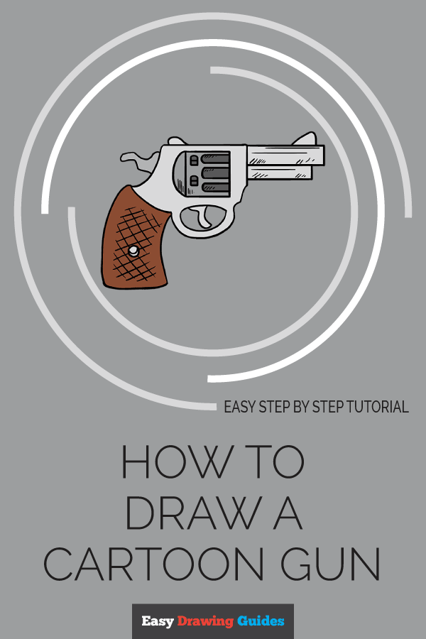 How to Draw Cartoon Revolver | Share to Pinterest