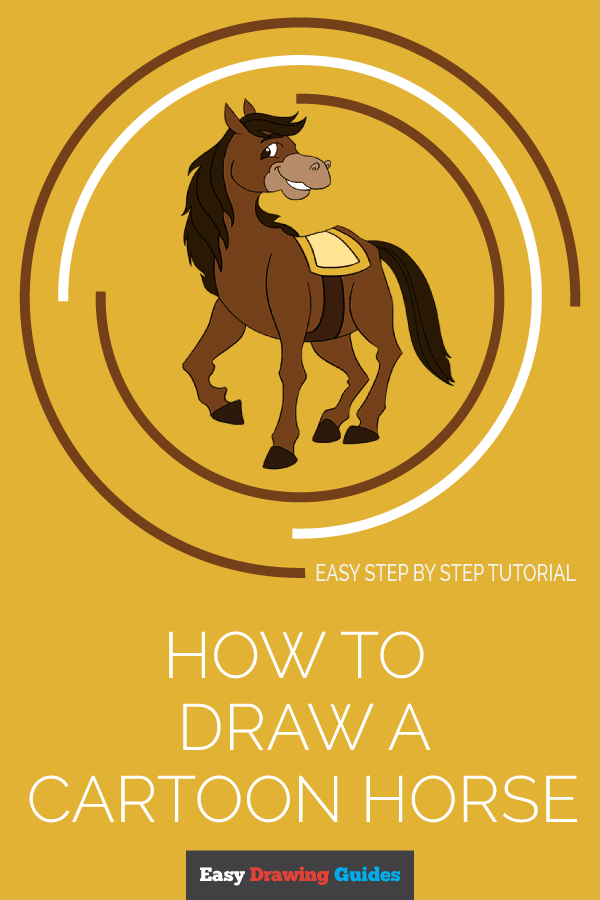 How to Draw a Cartoon Horse | Share to Pinterest