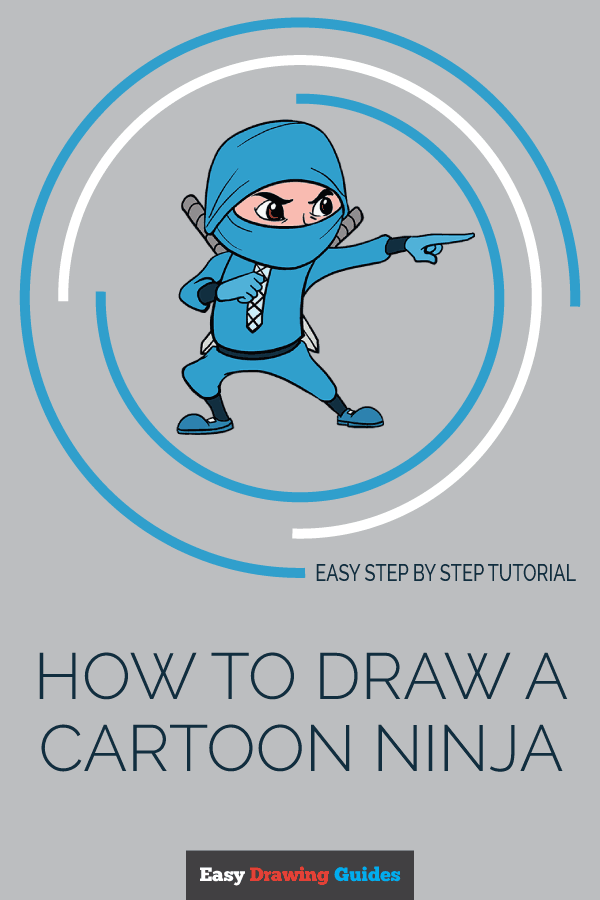 How to Draw Cartoon Ninja | Share to Pinterest