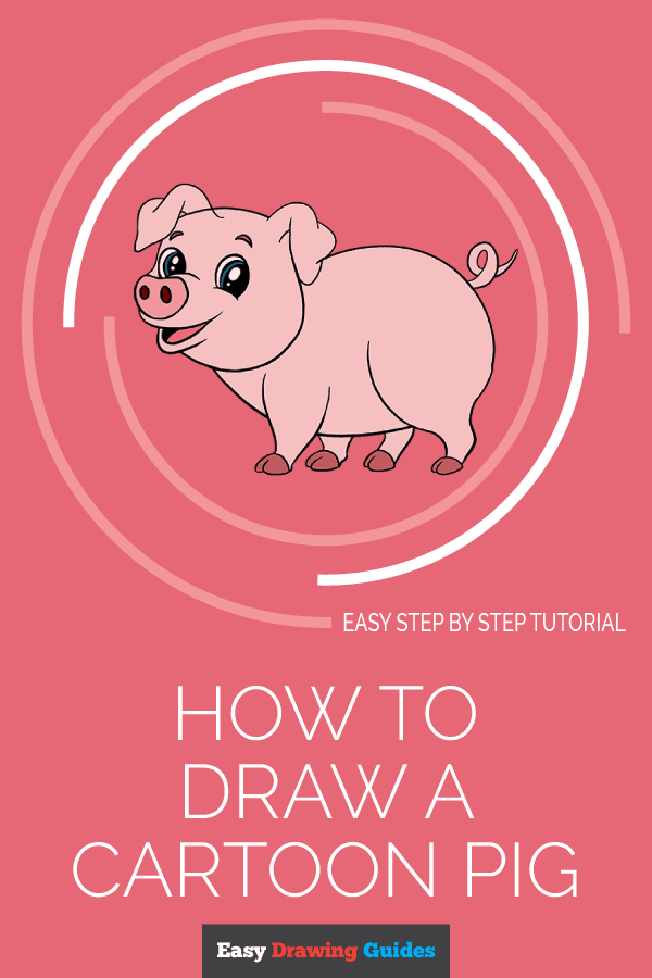 How to Draw Cartoon Pig | Share to Pinterest