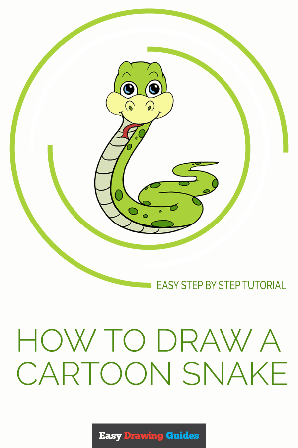 How to Draw a Cartoon Snake | Share to Pinterest
