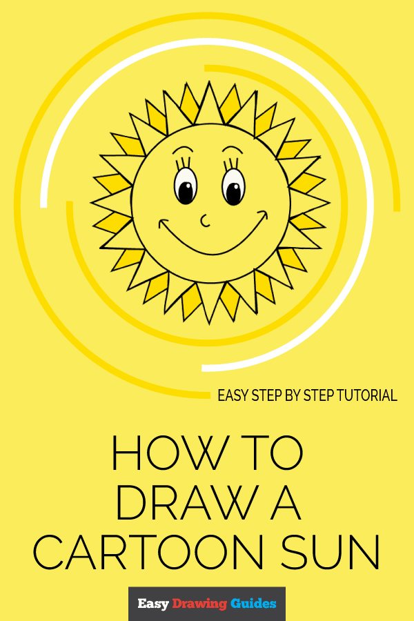 How to Draw Cartoon Sun | Share to Pinterest