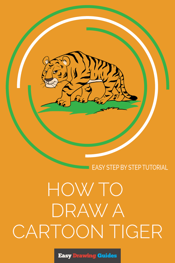 How to Draw Cartoon Tiger | Share to Pinterest