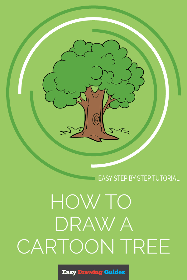 How to Draw Cartoon Tree | Share to Pinterest