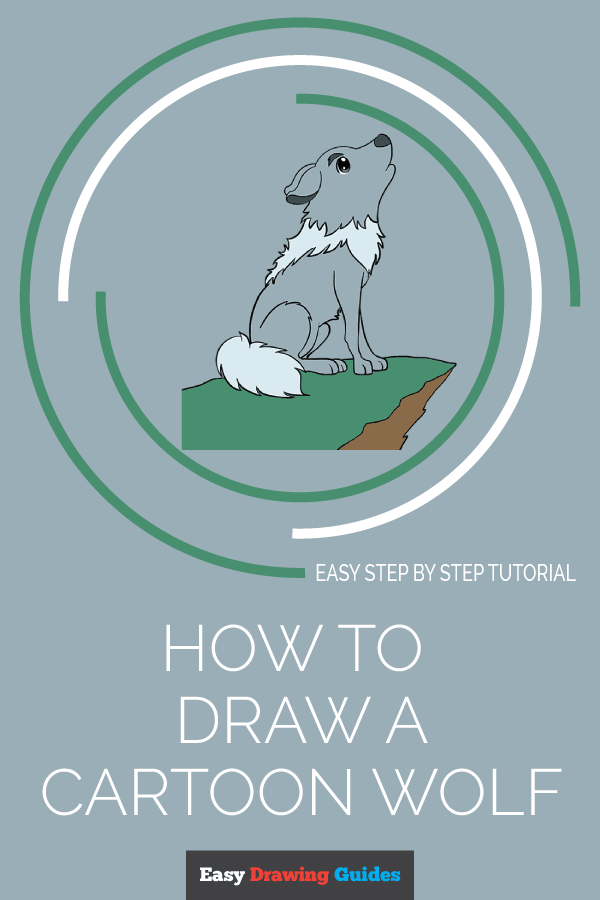 How to Draw Cartoon Wolf | Share to Pinterest