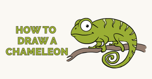 How to Draw a Chameleon: Featured Image