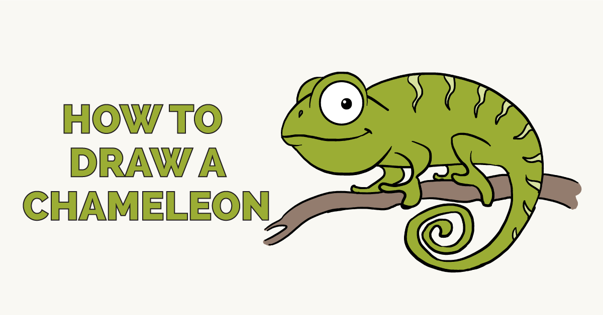 How To Draw A Chameleon Really Easy Drawing Tutorial