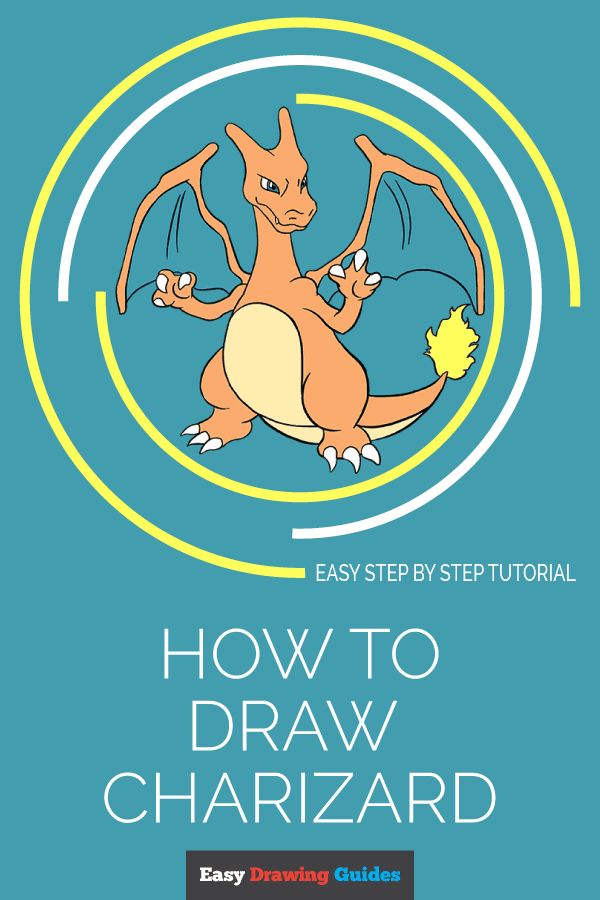 How to Draw a Charizard | Share to Pinterest