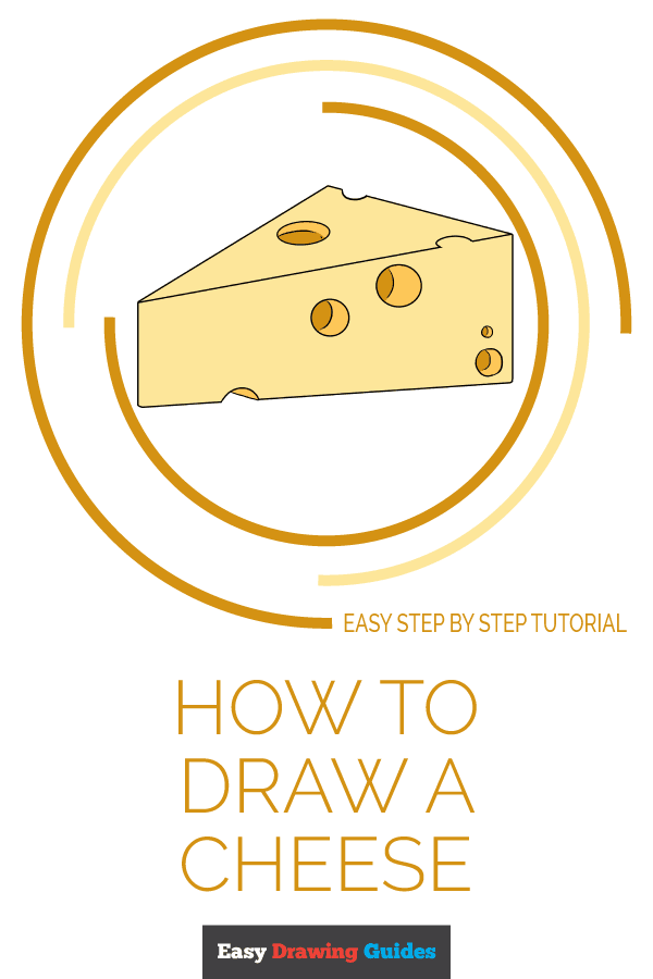 How to Draw a Cheese | Share to Pinterest