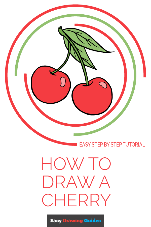 How to Draw Cherries | Share to Pinterest