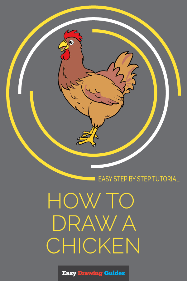 How to Draw a Chicken | Share to Pinterest