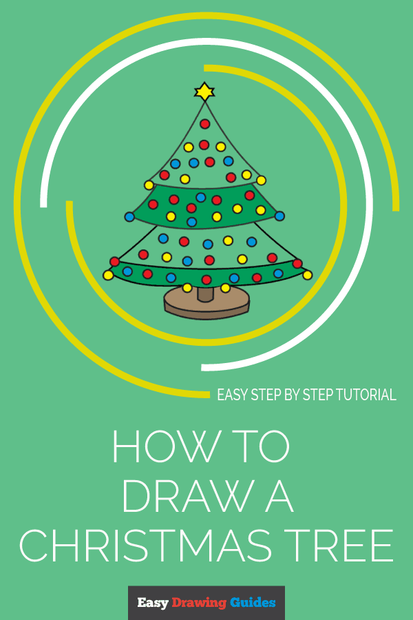 How to Draw Christmas Tree | Share to Pinterest