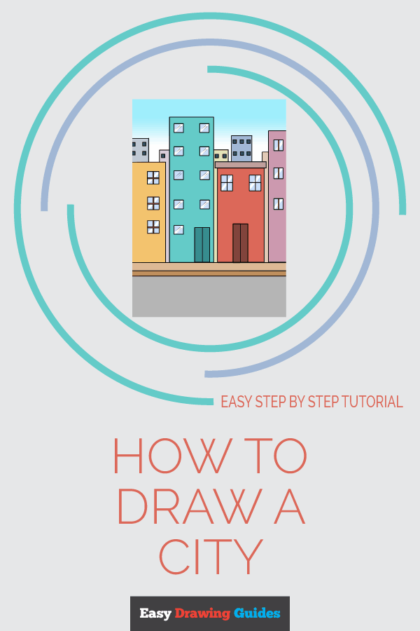 How to Draw a City | Share to Pinterest