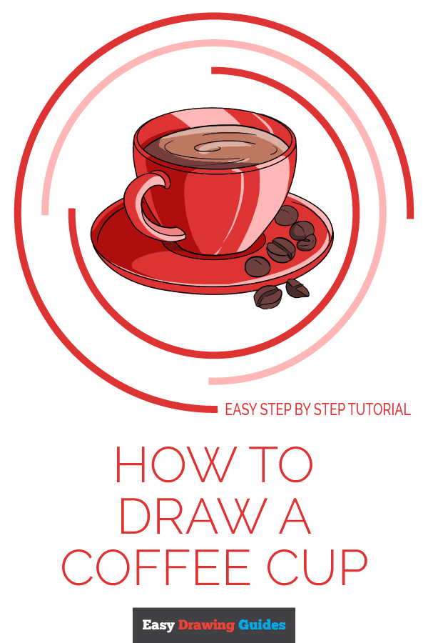 How to Draw Coffee Cup | Share to Pinterest