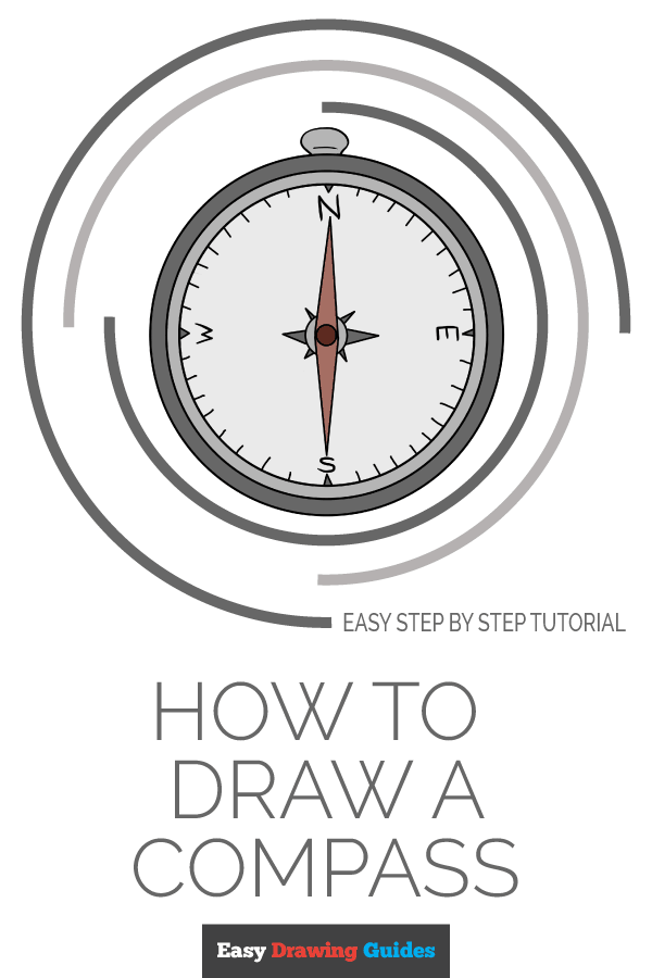 How to Draw Compass | Share to Pinterest