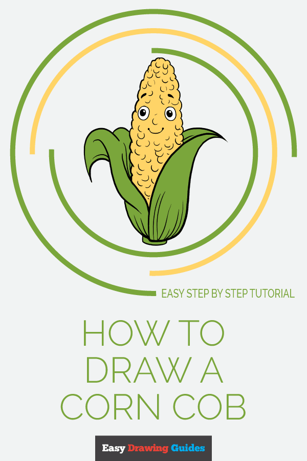 How to Draw Corn Cob | Share to Pinterest