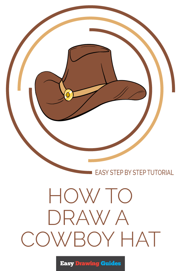 How to Draw Cowboy Hat | Share to Pinterest