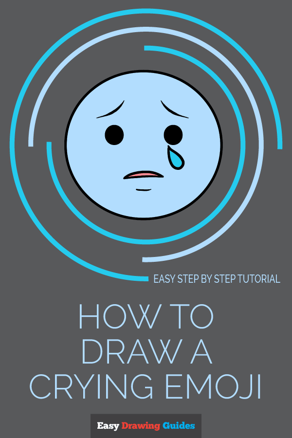How to Draw Crying Emoji | Share to Pinterest
