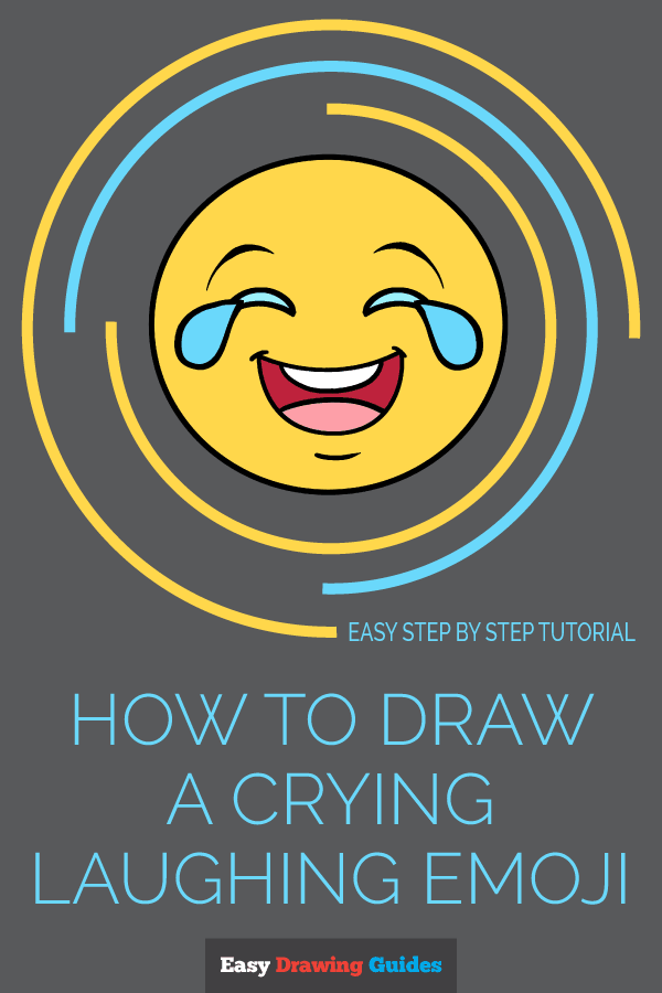 How to Draw Crying Laughing Emoji | Share to Pinterest