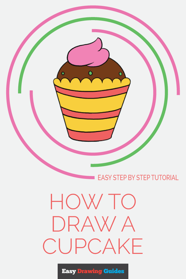 How to Draw Cupcake | Share to Pinterest