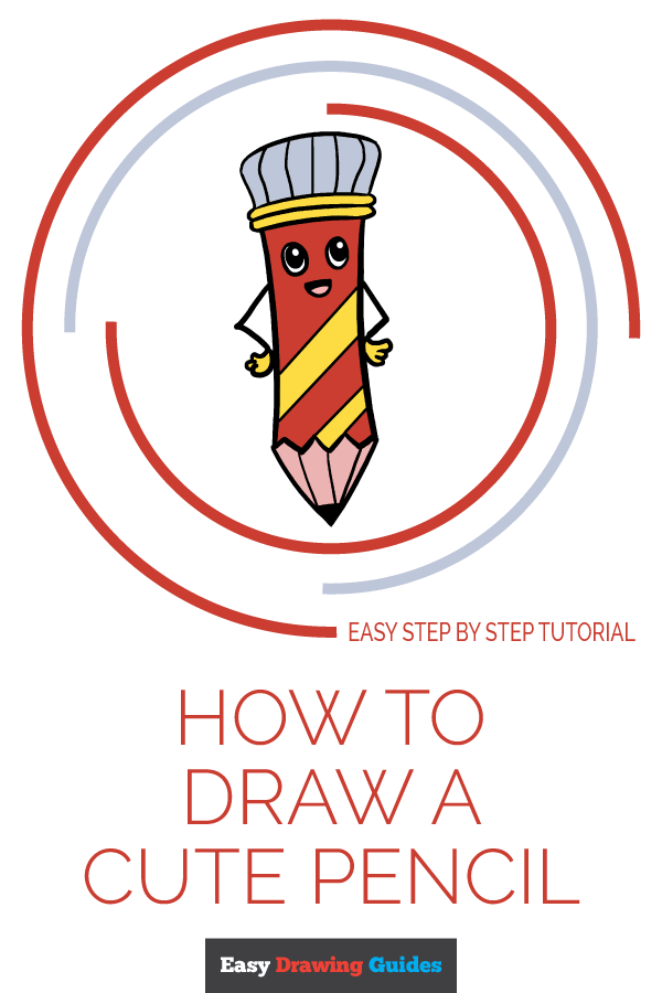 How to Draw Cute Pencil | Share to Pinterest