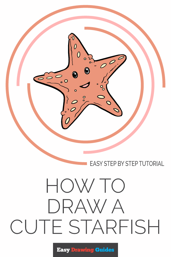 How to Draw Cute Starfish | Share to Pinterest