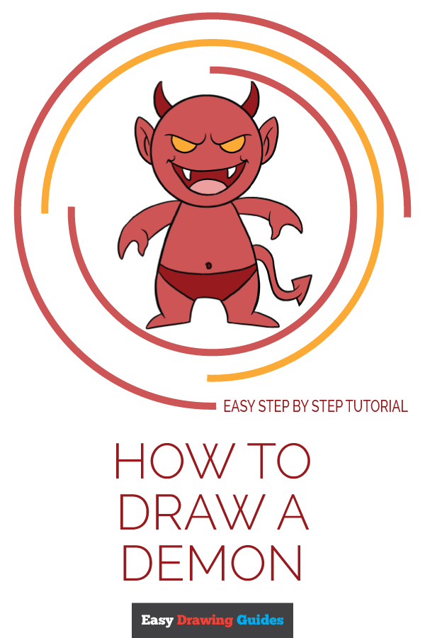 How to Draw Demon | Share to Pinterest