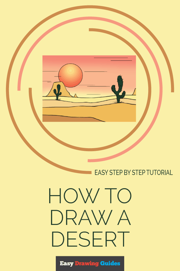 How to Draw Desert | Share to Pinterest