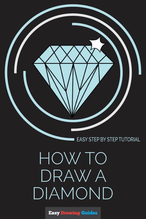 How to Draw Diamond | Share to Pinterest