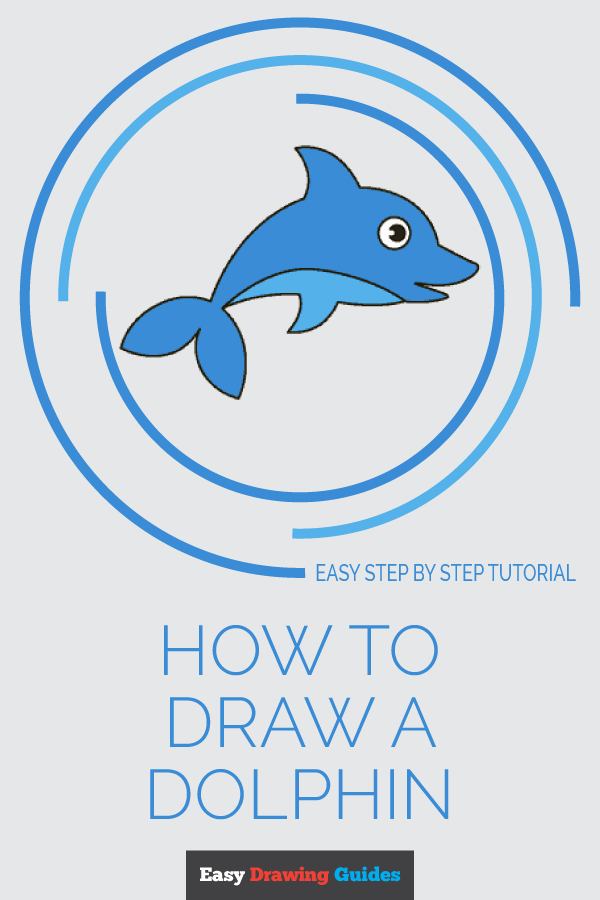 How to Draw a Dolphin | Share to Pinterest