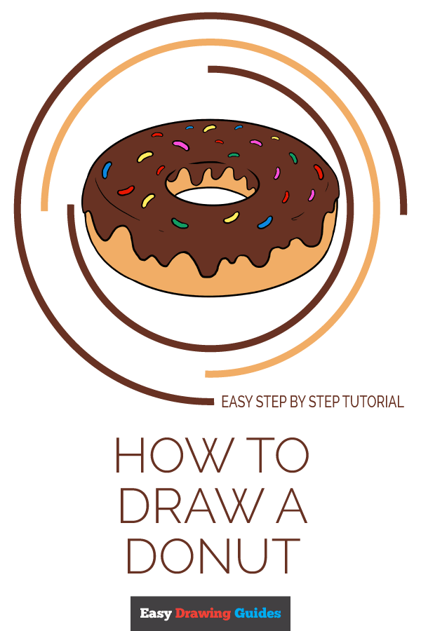 How to Draw Donut | Share to Pinterest