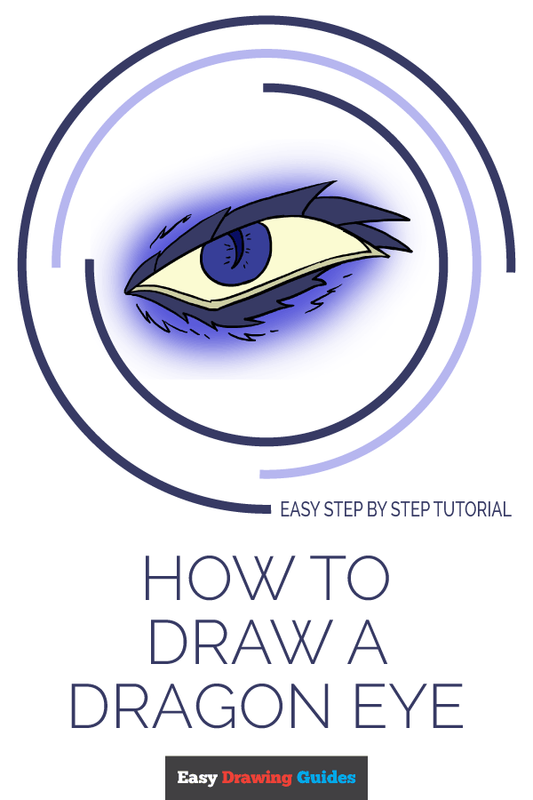 How to Draw a Dragon Eye | Share to Pinterest
