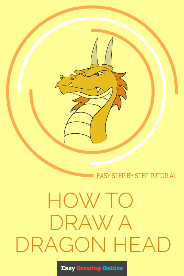 How to Draw Dragon Head | Share to Pinterest