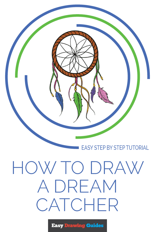 How to Draw Dream Catcher | Share to Pinterest
