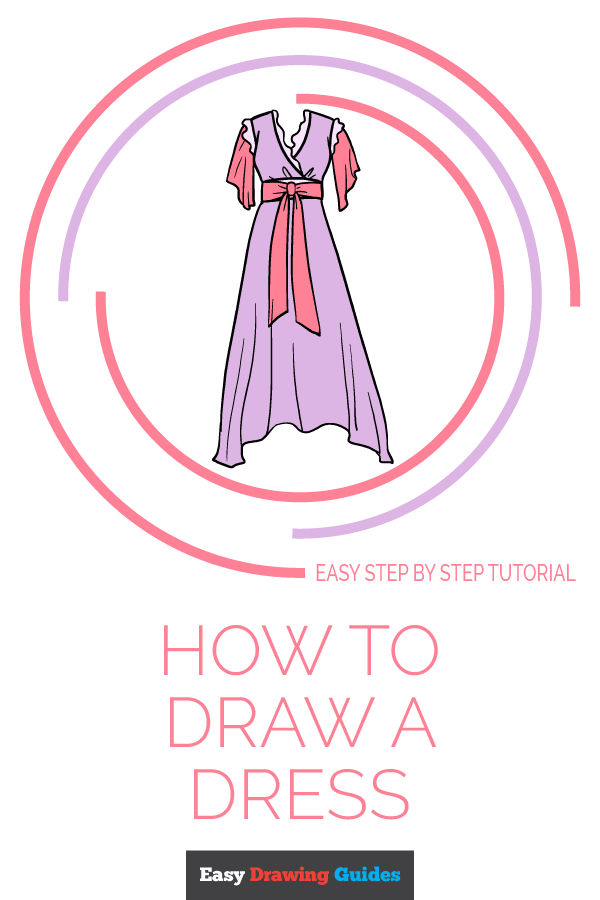 How to Draw Dress | Share to Pinterest
