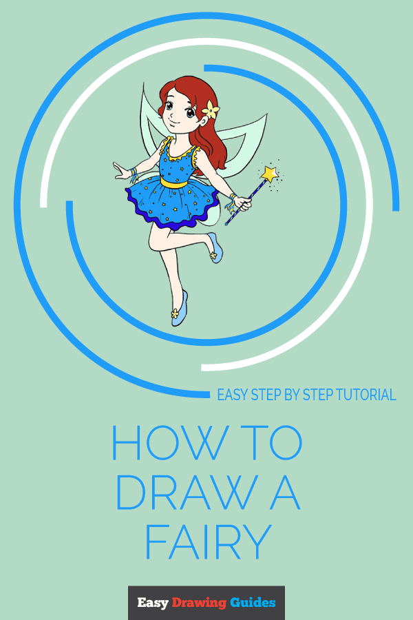 How to Draw Fairy | Share to Pinterest