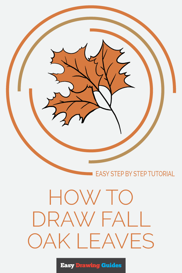 How to Draw a Fall Oak Leaves | Share to Pinterest