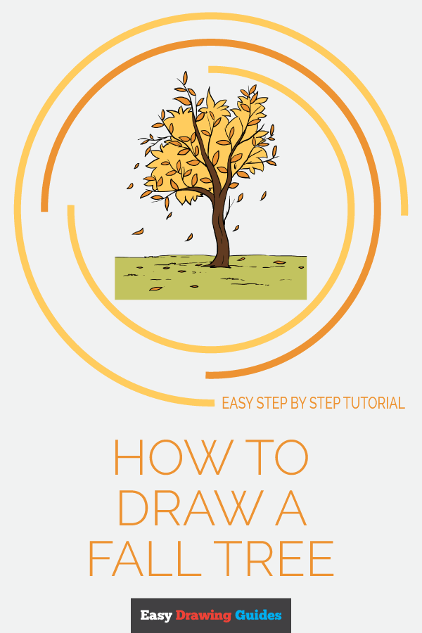 How to Draw Fall Tree | Share to Pinterest