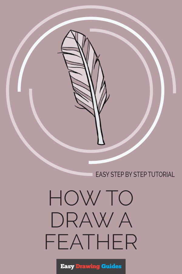 How to Draw Feather | Share to Pinterest