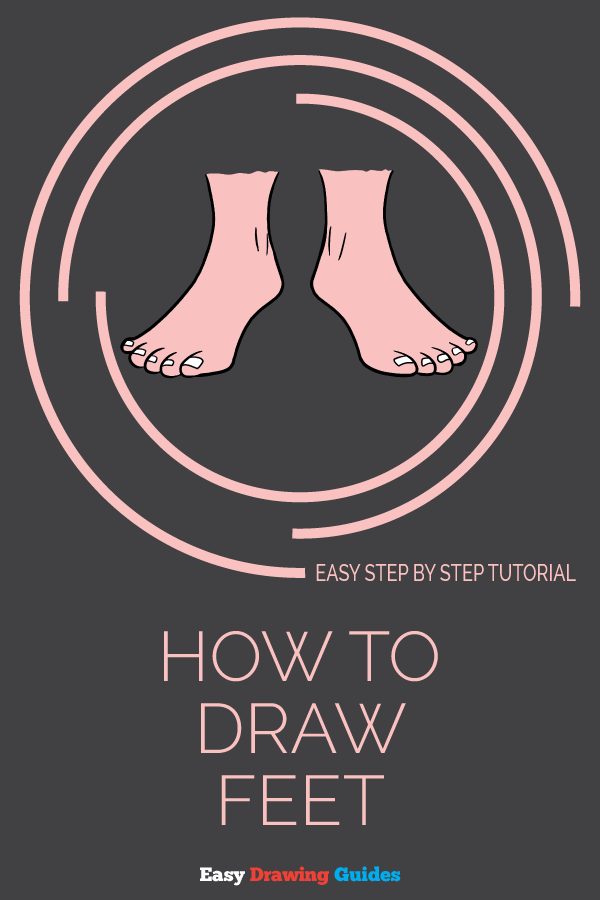 How to Draw Feet | Share to Pinterest