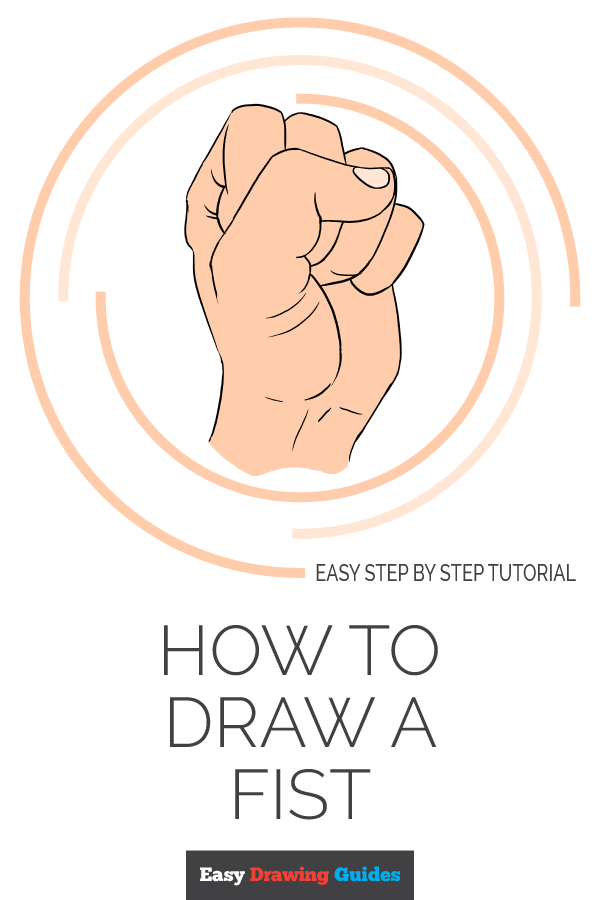 How to Draw Fist | Share to Pinterest