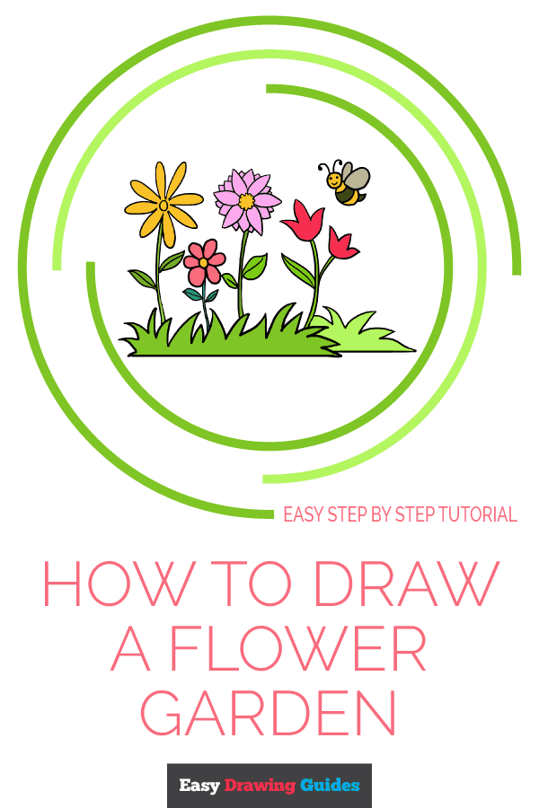 How To Draw A Flower Garden Really Easy Drawing Tutorial