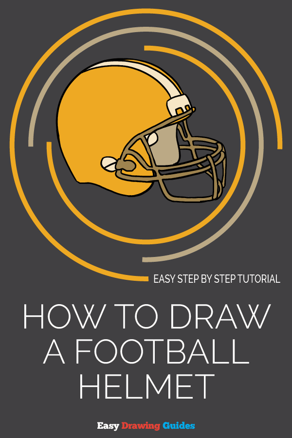 How to Draw a Football Helmet | Share to Pinterest