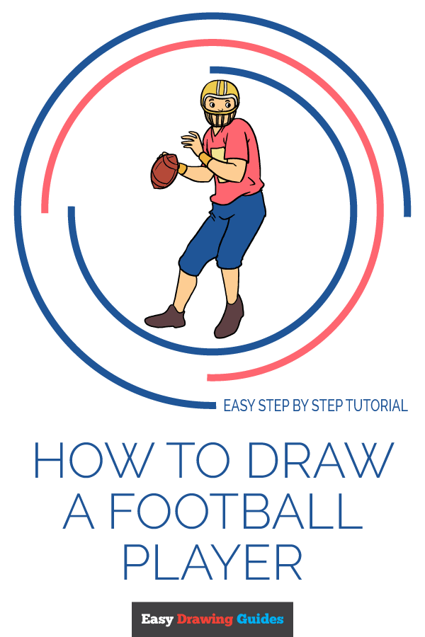 How to Draw a Football Player | Share to Pinterest