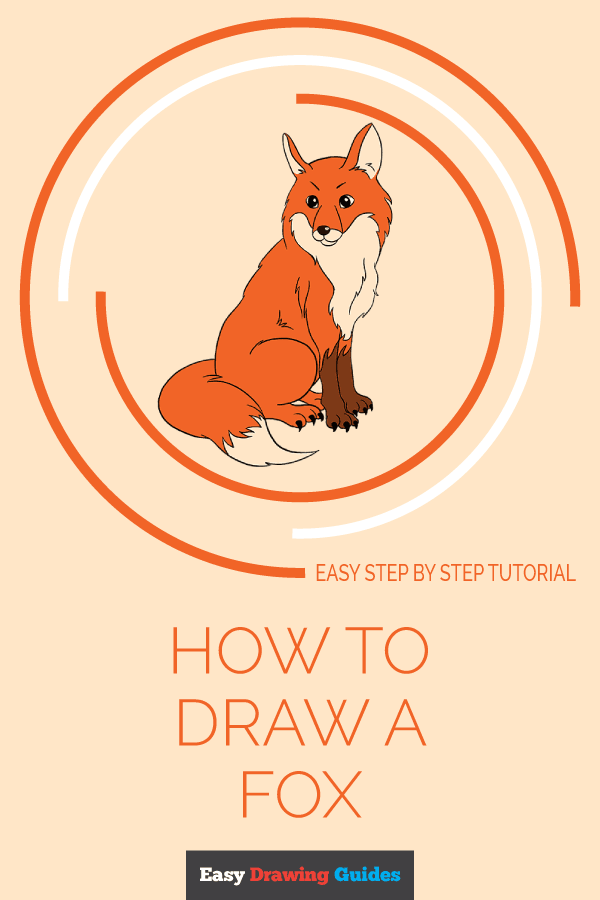 How to Draw a Fox | Share to Pinterest