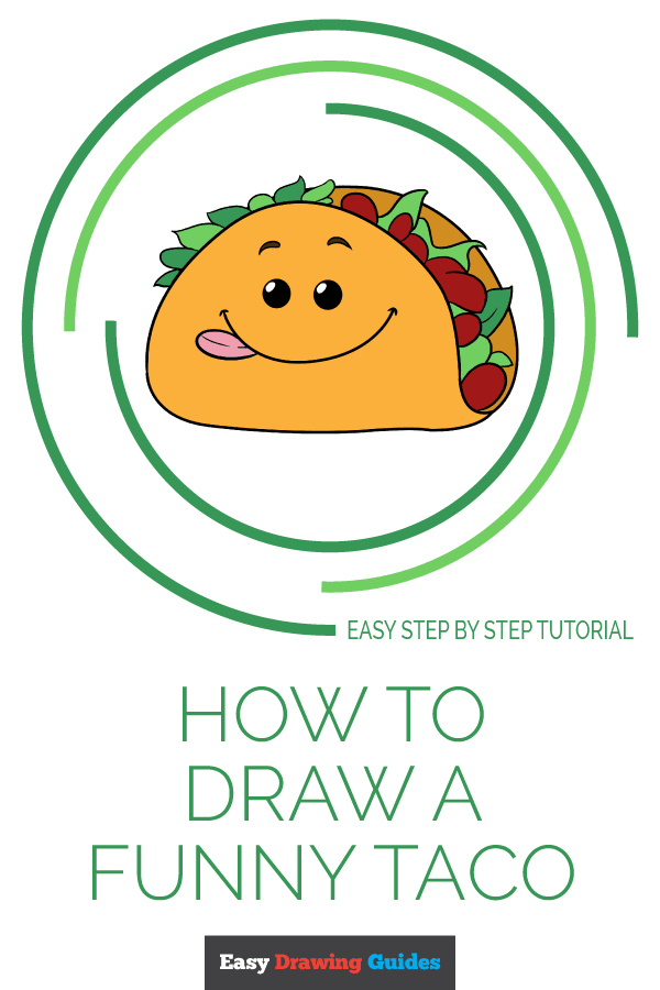 How to Draw a Funny Taco | Share to Pinterest