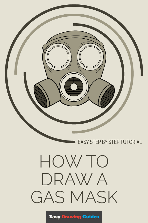 How to Draw Gas Mask | Share to Pinterest