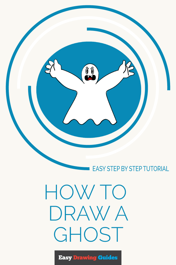 How to Draw Ghost | Share to Pinterest