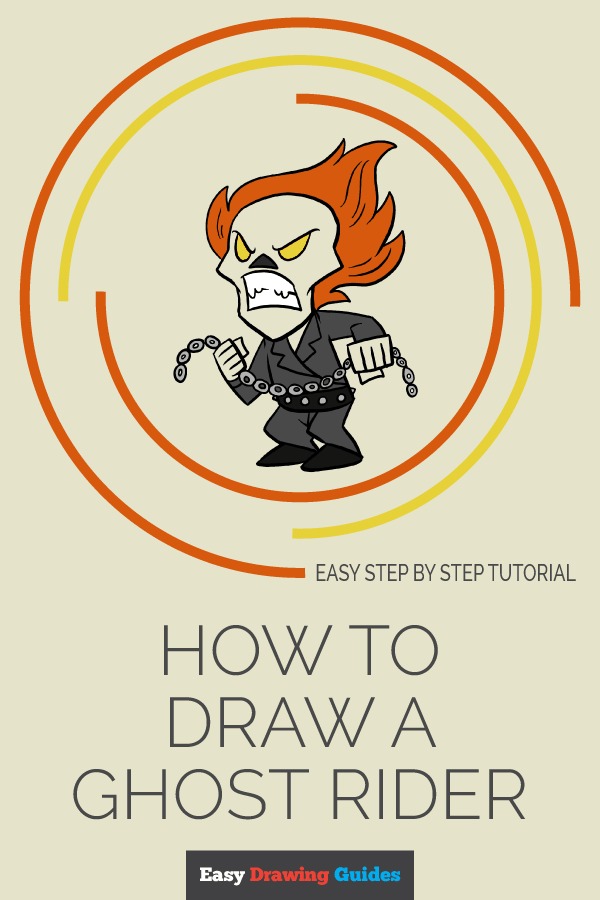How to Draw Ghost Rider | Share to Pinterest
